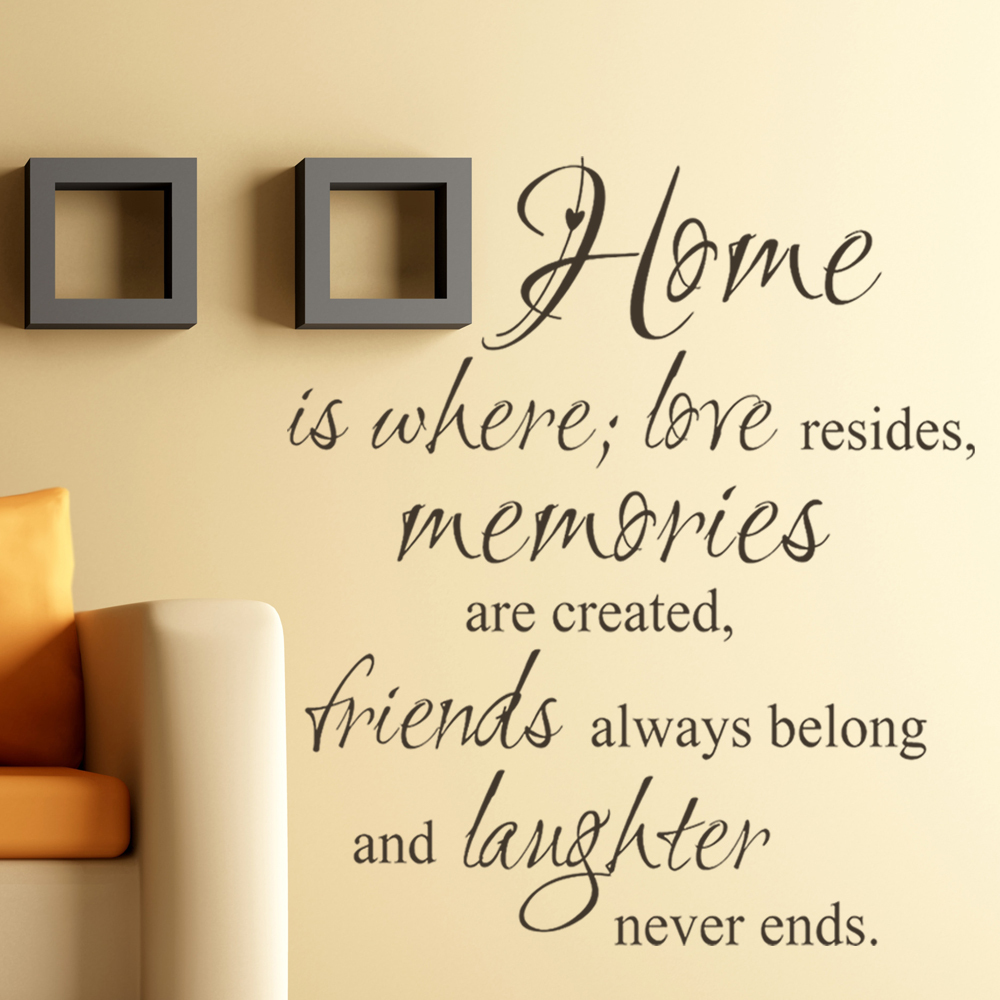 Quotes About Memories And Love Home Where Love Resides Memories Are Created Family Vinyl Wall