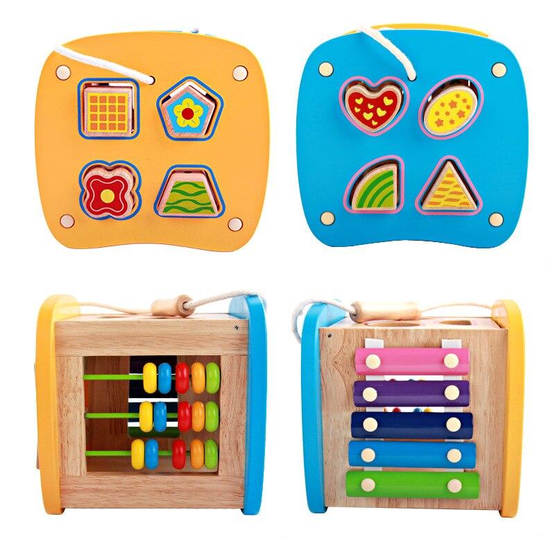 Perle en bois labyrinthe jouets éducatifs pour enfants bébé en bois jouet enfant en bois jouets cadeau d'anniversaire - 3