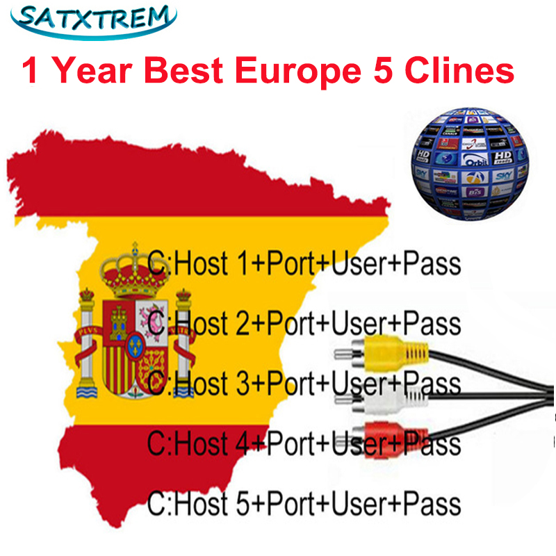 Av Cable 5 Lines Cccam Cline For 1 Year Europe Spain Portugal For Freesat V8 Super,V7 HD,IKS Receptor Satellite TV Receiver Etc. europe 5 lines cccam cline for 1 year spain germany tv for dvb s s2 satellite receiver v7 hd v8 super iks receptor