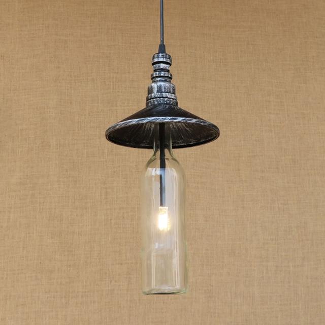 aliexpress koop moderne led fles hanger lamp vintage