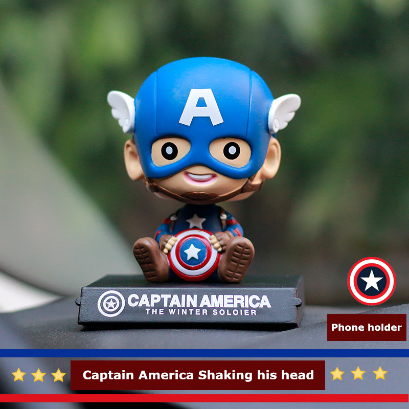 Creativity Car Perfume Seat Solid Perfumes Cute Cartoon Captain America Dashboard For Auto Air Freshener Flavoring In The Car car outlet perfume air freshener with thermometer lime