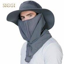 FANCET Sun Hats Outdoors Mens Bucket Hats Nylon Farming Adjustable Mesh Chin Cord Strap Mosquito proof Climbing Soft Caps 99746