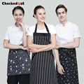 Brands checkedout Korean Style Kitchen cotton Apron  Home Furnishing Bakery Short Apron Waiter Hanging Neck  Apron