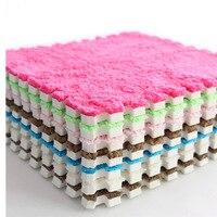 6 stuks/partij Baby EVA Foam Pluche Puzzel Speelmatten Grijpende Oefening Tegels Vloer Mat voor Kid, 30 cm X 30 cm