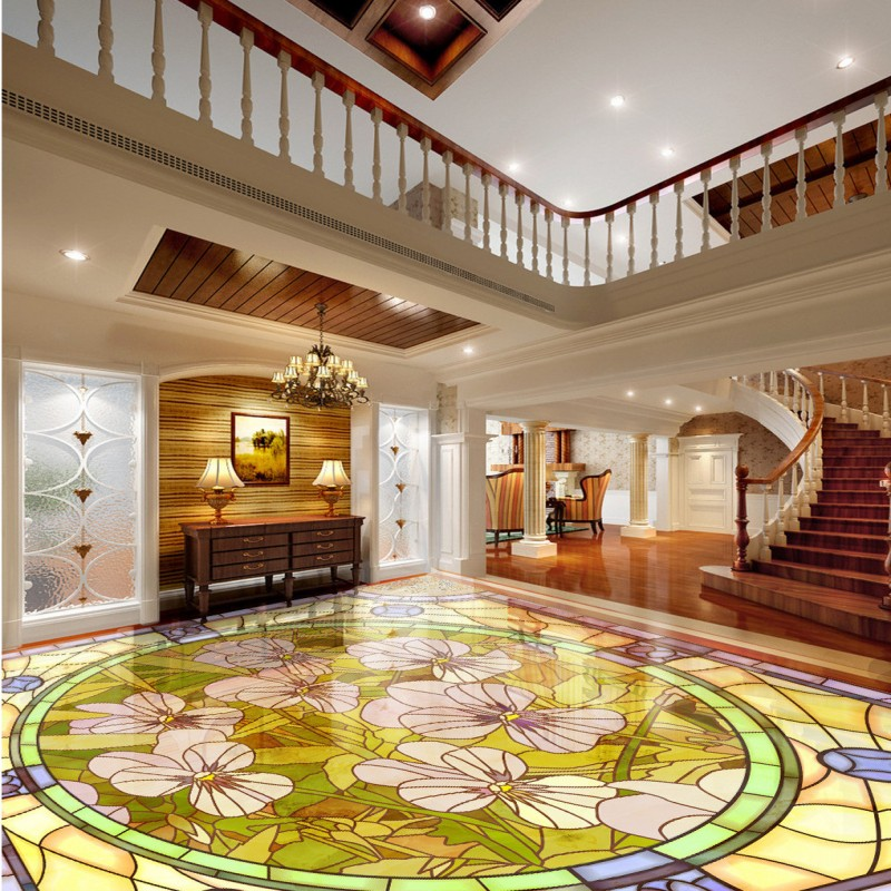 Free shipping Orchid marble parquet flooring custom self-adhesive home decoration floor living room 3d wallpaper mural