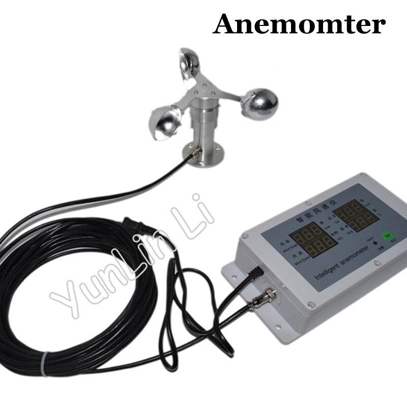 Anémomètre Intelligent tour grue [spécial] anémomètre température vent anémomètre météo corps coupe anémomètre JRL-FS