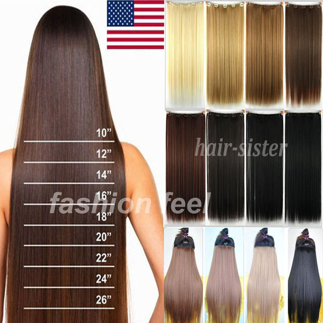 23 58cm long straight women clip in hair extensions 34 full head 23 58cm long straight women clip in hair extensions 34 full head real pmusecretfo Image collections
