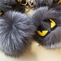 Real Genuine Furs Keychain Pendant Bag Bug Fur Monster Keychain Keyring Charm Pom Pom Karlito Bag Accessories Fur Balls F#75