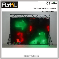 Free shipping, 1176pcs lamps, PC controller P7 2X3M led curtain Backdrop dmx with effect card