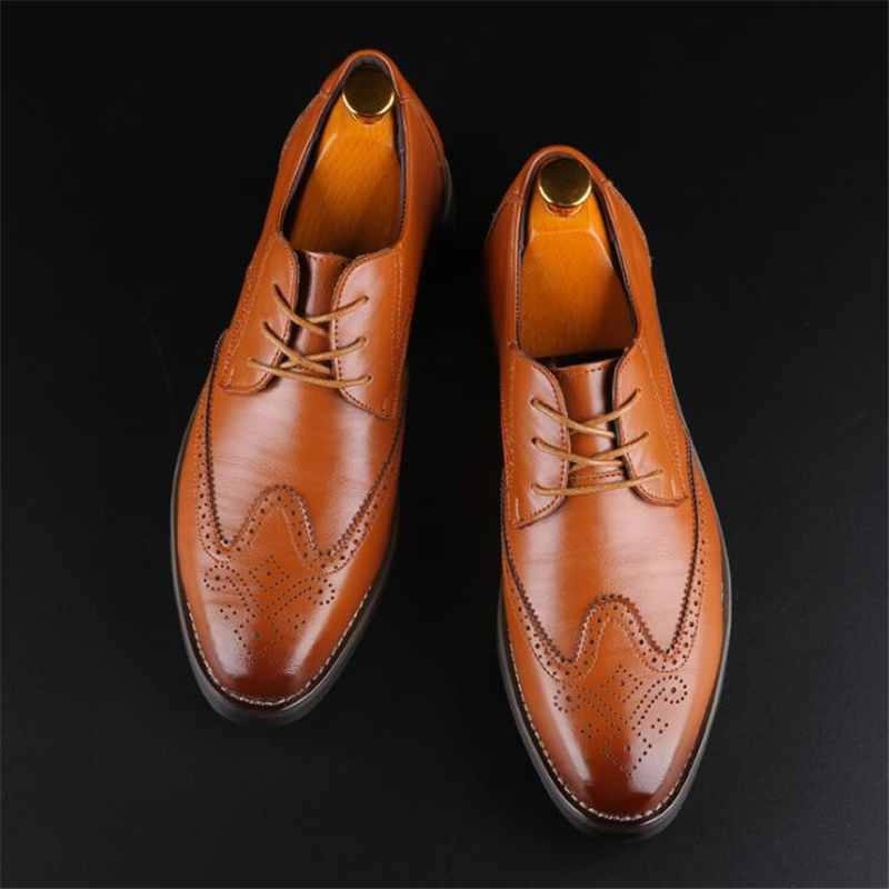 Men Dress Shoes Pointed Toe Men Formal Shoes Leather Luxury Fashion Wedding Shoes Men Business Casual Oxford Shoes Men Flats