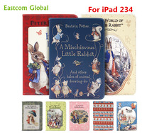 Tablet Case For IPad 234 Peter Rabbit Cartoon Animation Protective Shell Cover For IPad 234 With