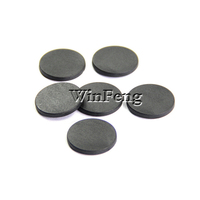 100PCS/Lot Low Cost Dia 24mm Proximity 125KHZ RFID Tag Round PPS Small Mini RFID Garment Tag For Clothing Washing Tracking
