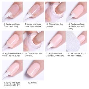 Image 5 - 4Pcs/Set Dipping System Nail Kit Dipping Nail Powder With Base Activator Liquid Gel Nail Color Natural Dry Without Lamp Nail