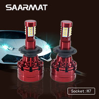 2X H7 160W 16000LM W Sharp Chips LED Headlight Kit Single Beam Bulbs White 6000K