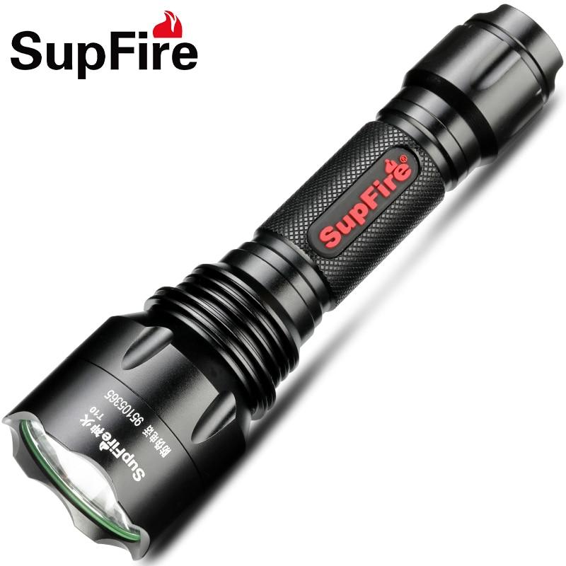 Supfire LED Flashlight Torch Police Light T10 Tactical Hunting Lamp XML T6 Linterna for Sofirn Nitecore
