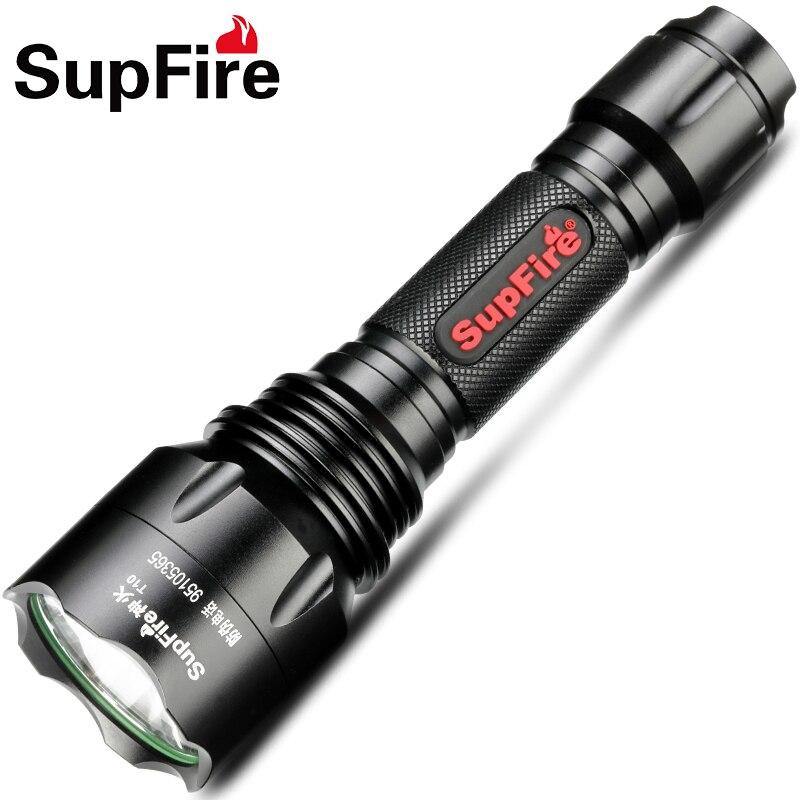 Supfire lampe de Poche LED Torche Police Lumière Tactique Chasse Lampe XML T6 Travail Linterna pour Sofirn Nitecore Fenix Convoi C8 S046