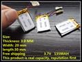 1 pcs 3.7V 135mAh 302030 Lithium Polymer LiPo li ion Rechargeable Battery For Mp3 MP4 MP5 GPS PSP bluetooth gps DVD vedio pen