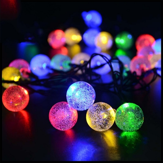 30led solar led lights outdoor waterproof garden decorative lamp 30led solar led lights outdoor waterproof garden decorative lamp christmas bubble ball holiday lighting strings fairy aloadofball Gallery