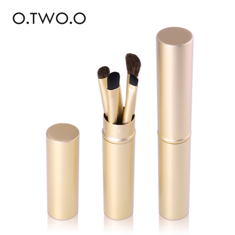 O.TWO.O Band Makeup Brushes  Powder  Eyeshadow Eyeliner Foundation Lip Brush Cosmetic with Gold Box Makeup Tools 5pcs In  Set new 32 pcs makeup brush set powder foundation eyeshadow eyeliner lip cosmetic brushes kit beauty tools fm88
