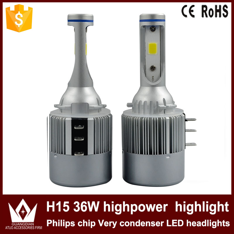 Cheetah car led light Headlight Head lamp Bulb Auto CAR LED c6  h15 12V-24V 36W 6000K white h7 car led headlight bulb 100w 20000lm cob chip led auto headlight canbus headlamp automobile led head fog light 12v 24v 6000k