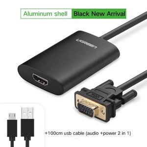 Image 3 - Ugreen VGA إلى محول HDMI 1080P VGA ذكر إلى HDMI أنثى محول لأجهزة الكمبيوتر المحمول HDTV رصد فيديو الصوت كابل HDMI إلى VGA