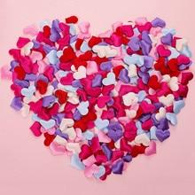 100 шт 2 см 3 см губка в форме сердца конфетти метания лепестки для свадьбы подарок любовника украшения дома 62058
