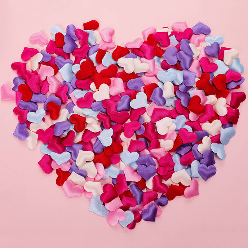 100 Pcs 2cm 3cm Sponge Heart Shaped Confetti Baby Shower Throwing Petals For Wedding Lover's Gift Home Decor Decoration 62058