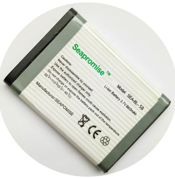 retail battery BL-5B BL5B for NOKIA 3220 3230 5000 5070 5110i 5140 5200 5208 5300 5320 5500 6020 6021 6060 6070(China)