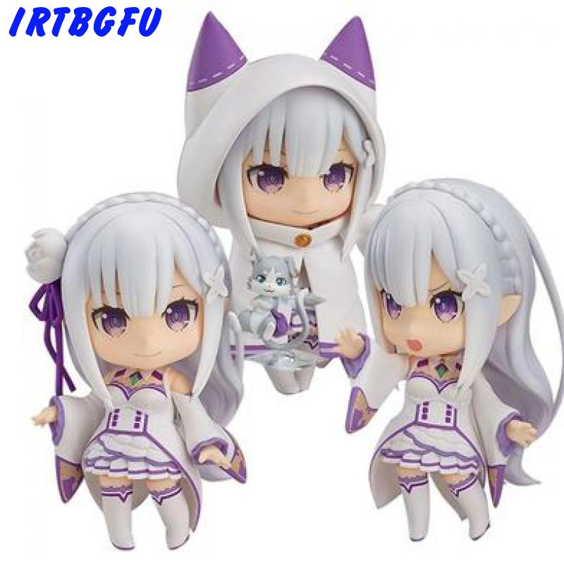 Emilia Q Version Re zero life In A Different World Anime Action Figure Collectible Model Figures Toys Kids Gift toys for girls image
