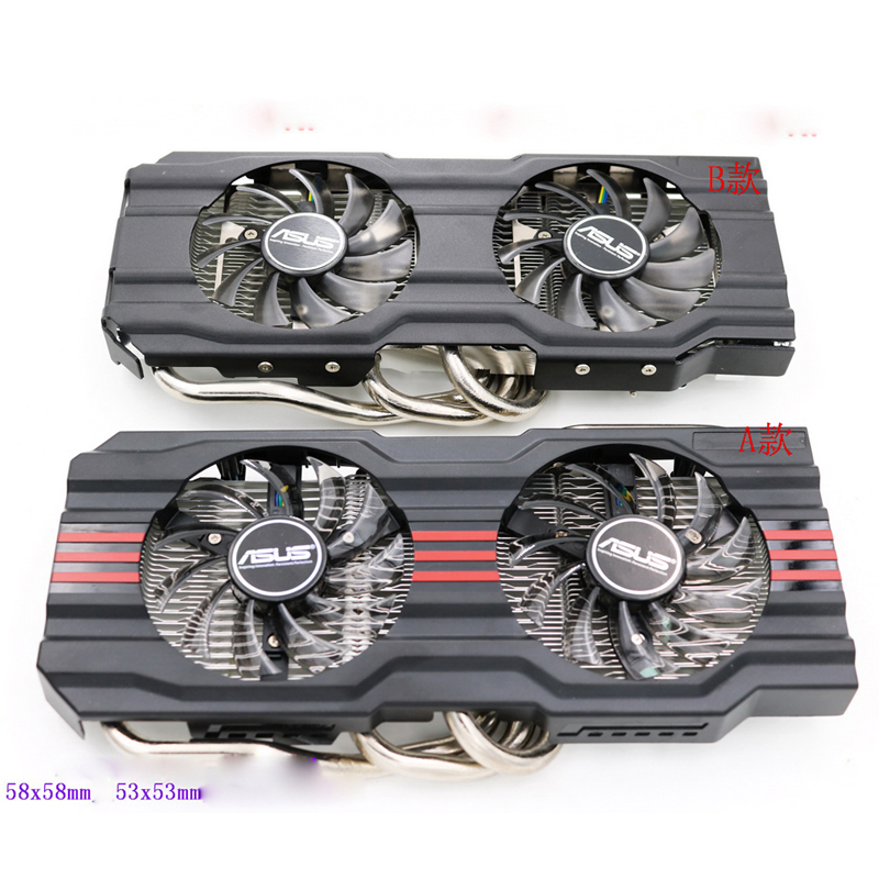 Original New Cooling Fan For ASUS GTX770 GTX670 GTX660Ti GTX660 HD7870 Graphics Video Card Cooler Heatsink computer video card cooling fan gpu vga cooler as replacement for asus r9 fury 4g 4096 strix graphics card cooling