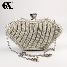 GX Crystal Women Clutch Purse Hard Box Clutch Evening Bag Bridal Bridesmaid Evening Bags Crystal Cocktail Wedding Handbag
