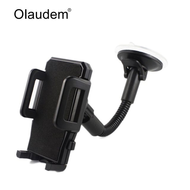 Car Phone Holder for Iphone 6 7 Samsung Windshield Mount Car Holder 360 Degree Rotatable Movil Mobile Car Phone Stand 1017-i