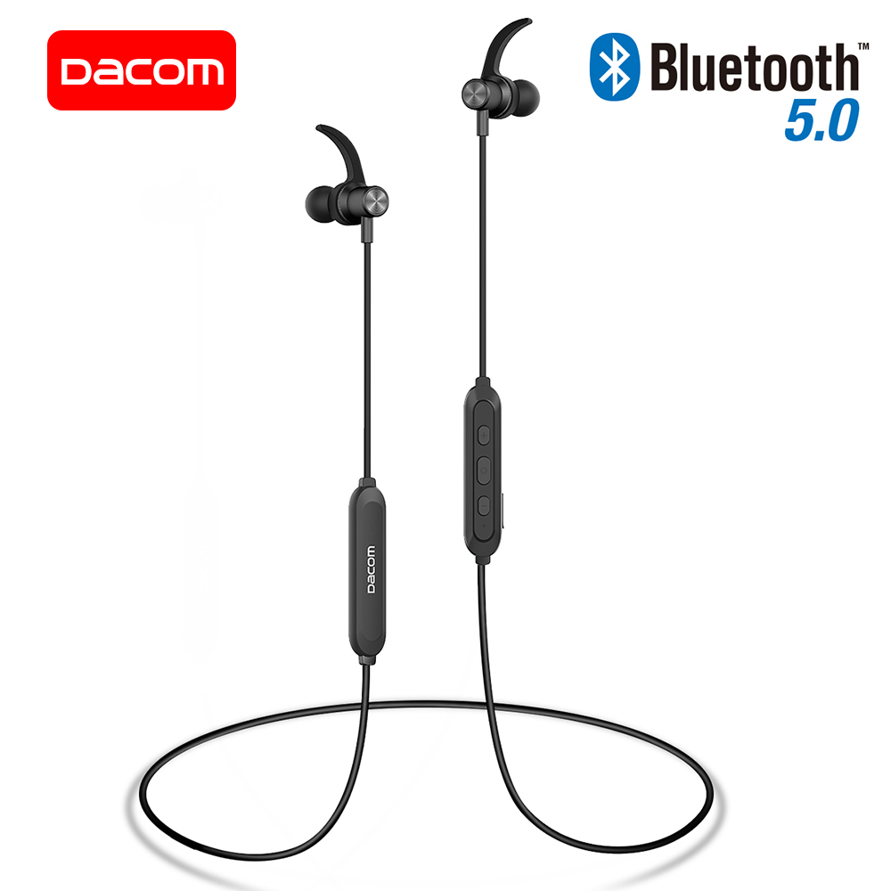 DACOM L15 Draadloze Hoofdtelefoon Sport Bluetooth Oortelefoon 5.0 Stereo IPX5 Waterdichte Running Headset met Microfoon voor iPhone Samsung