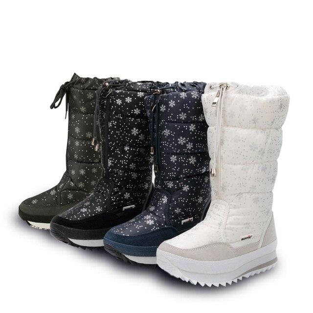 Bottes de coton Femme imperméables bottes de ne... XSNlfc8c