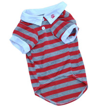 Pets Canine Shirts Clothes Pet Cat Cotton Striped Vests T-shirt Coat Garments For Small Canine Costumes