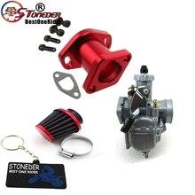 STONEDER wydajność wyścigowa Mikuni VM22 gaźnik Carb Mainfold filtr powietrza dla Predator 212cc GX200 196cc minirower gokart