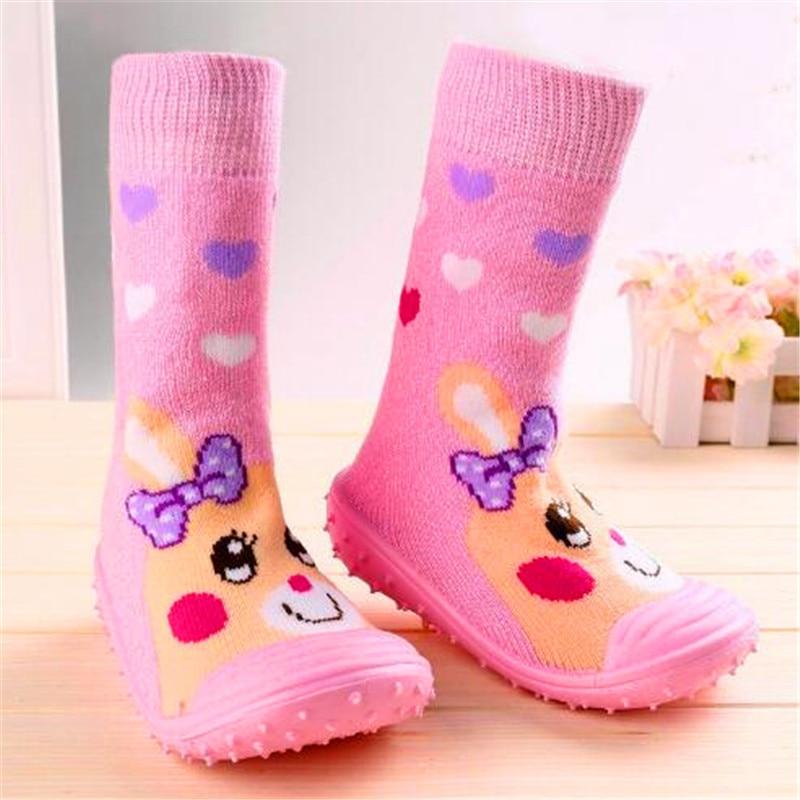 Kleinkind Schuhe Baby Mädchen Jungen Socken mit Gummisohlen Anti - Babyschuhe - Foto 2