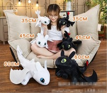 25/35/45/60cm How To Train Your Dragon 3 Toothless Anime Figure Night Fury Light Fury Toys Dragon Plush Doll Toys For Children