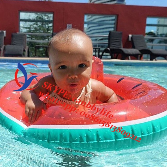 Inflatable Kids Baby Toddler Swimming Pool Float Watermelon Seat Inflatable  Beach Floating Raft Swim Floats Chair For Infant