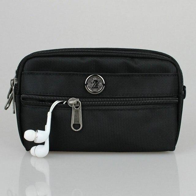 Polyvalent Téléphone Portable Sac de Taille En Nylon Pochette Portefeuille  Porte-Monnaie Étui Ceinture Boucle 326aa4e3b44
