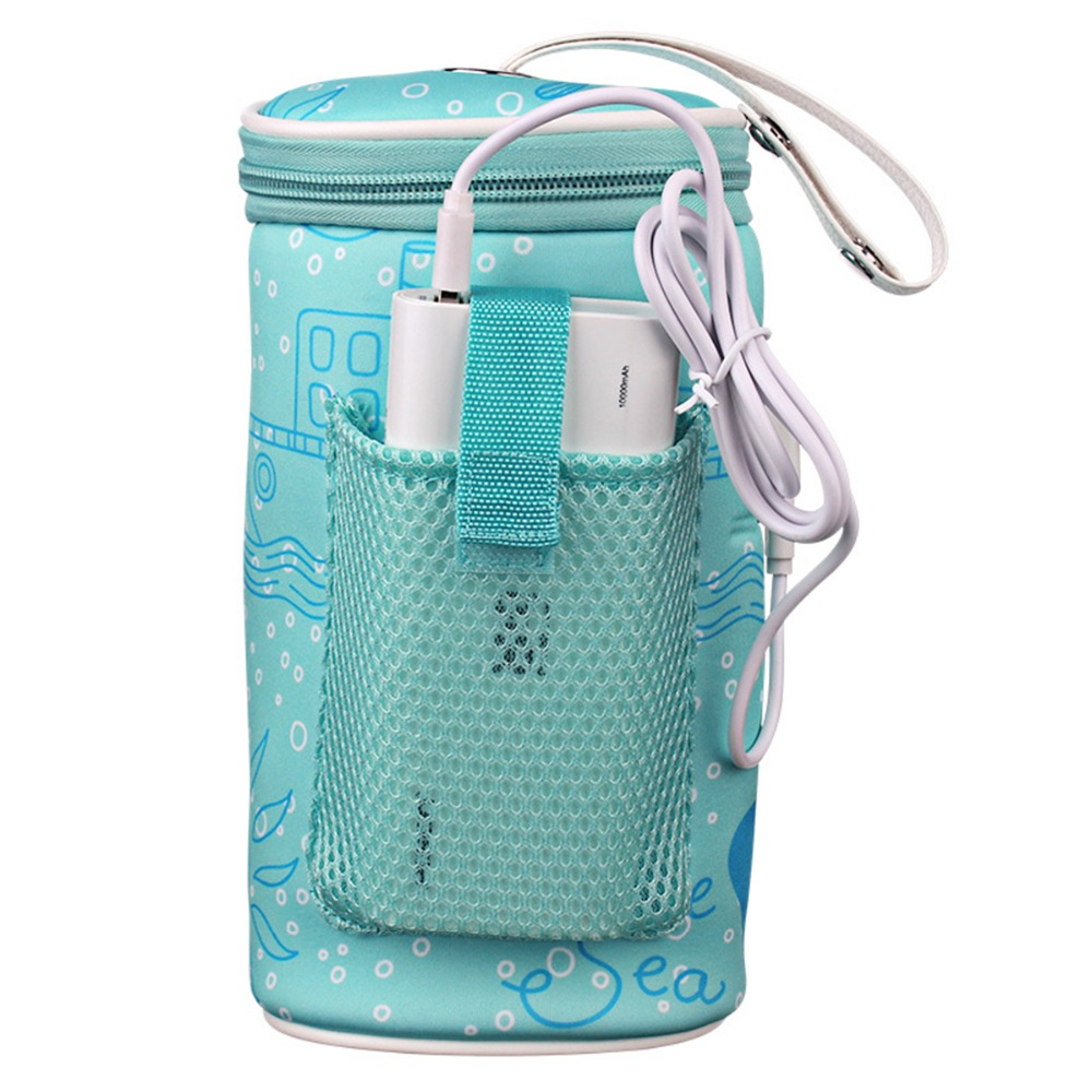 Puseky Portable Baby Milk Bottle Insulation Warmer Heater Thermal Bag Baby USB In Car Heaters Drink Bottle Warmer Reusable Pouch