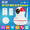 P2P Mini IP Camera HD 720P Wireless Wifi 3.6mm Endoscope Video Surveillance Security CCTV Motion Sensor + Gas & Smoke Detector
