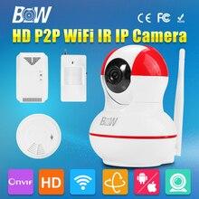 P2P Мини Ip-камера HD 720 P Беспроводной Wi-Fi 3.6 мм Эндоскопа Видеонаблюдения CCTV Motion Sensor + Газа и Дыма детектор