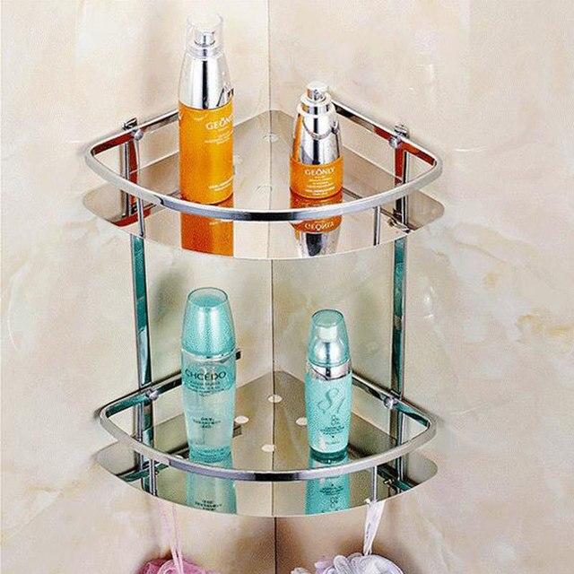 Acier inoxydable 304 salle de bains étagère d\'angle salle de douche ...