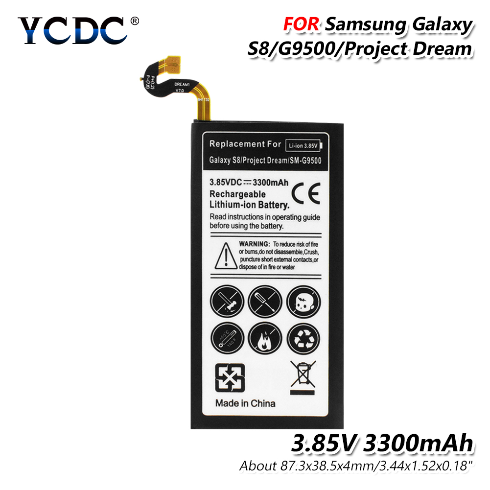 For Samsung Battery Galaxy S8 3.85V 3300mAh SM-G9500 / SM-G G Project Dream G9508 G950F G950A G950T G950U G950V + Repair Tool