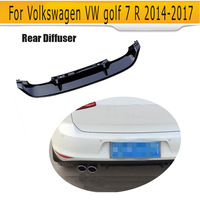 A brand new PP bumper lip diffuser for VW rear diffuser for golf 7 R for golf 7 R 14UP