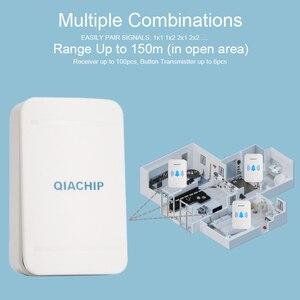 Image 5 - QIACHIP autoalimentado hogar impermeable timbre inalámbrico sin batería luz LED 200 M campana del hogar 38 melodías 4 niveles volumen de la puerta