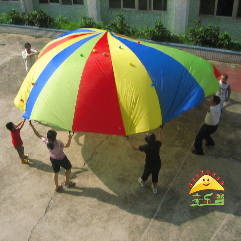 dia. 5 meters kids play parachute for fun educational game team ...