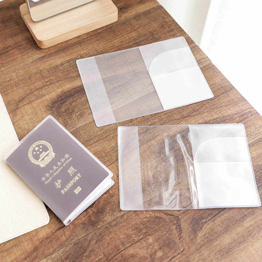 Travel Waterproof Dirt  Passport Holder Cover Clear Credit Card Holder Transparent PVC Protector Pouch Waterproof #18