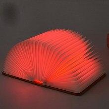 Светодиодный складной светильник для книг креативный портативный светодиодный ночник зарядка через USB лампы Лучший домашний декоративный Настольный светильник